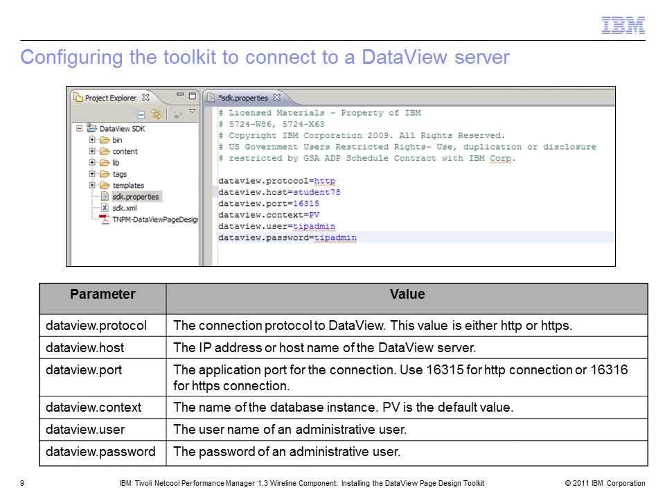 Installing the DataView Page Design Toolkit - IBM MediaCenter