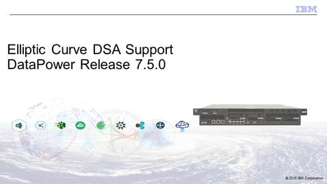 Thumbnail for entry Elliptic Curve DSA Support