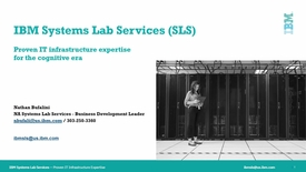 Thumbnail for entry IBM Systems Lab Services BDM