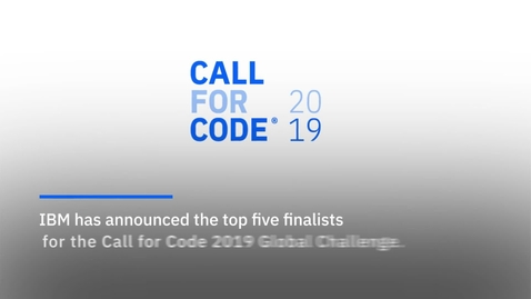 Thumbnail for entry CALL FOR CODE 2019