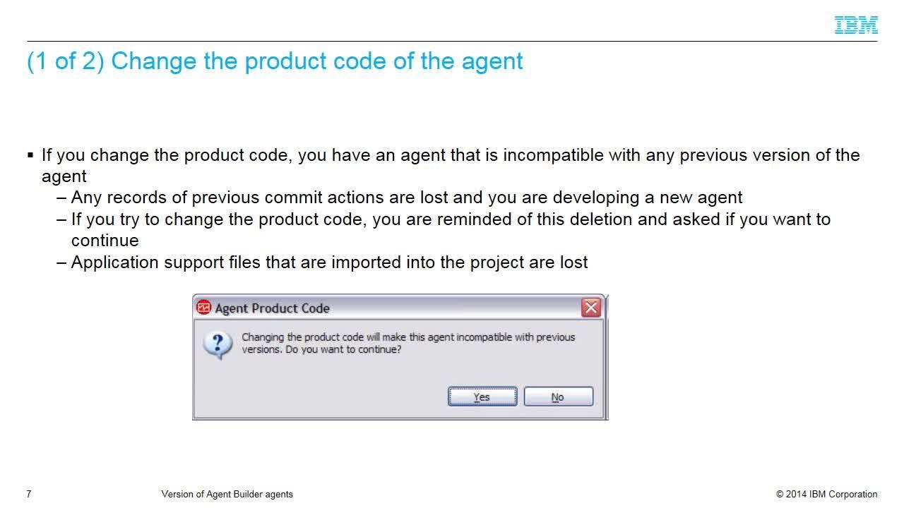Version of agent builder agents - IBM MediaCenter