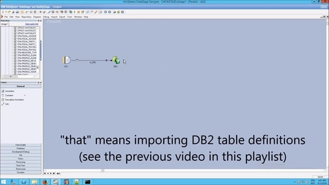 Thumbnail for entry DataStage: Testing DB2 Table Definitions