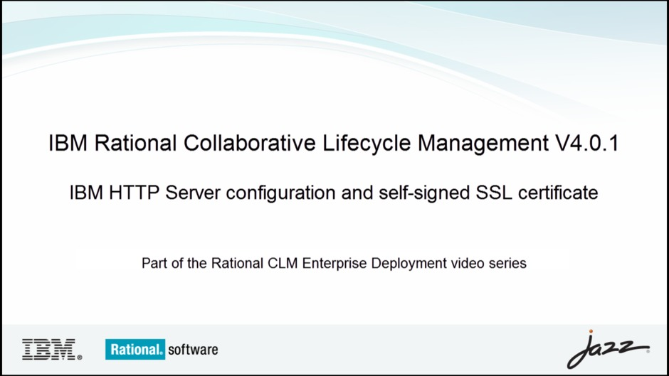 Ibm Http Server Configuration And Self Signed Ssl Certificate Ibm