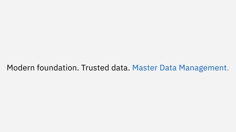 Thumbnail for entry MDM Machine Learning Assisted Data Stewardship Technical Preview