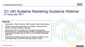 Thumbnail for entry Q1 Systems Marketing Guidance - 6th December 2017