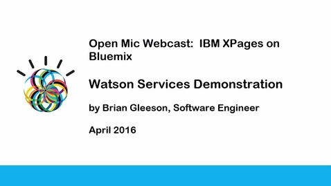 Thumbnail for entry Watson Services Demonstration