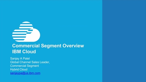 Thumbnail for entry Introduction to the commercial segment