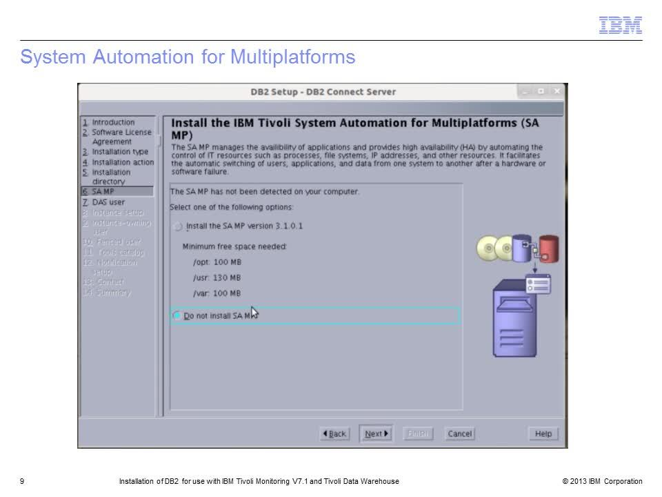 Installation Of Db2 For Use With Ibm Tivoli Monitoring V71 And