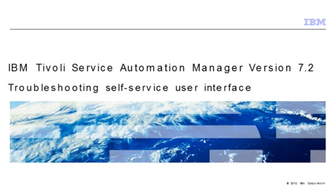 Thumbnail for entry Troubleshooting self-service user interface
