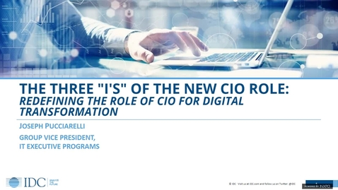"""Thumbnail for entry The three """"I's"""" of the new CIO role"""
