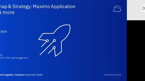 Thumbnail for entry Recording - Roadmap & Strategy Maximo Application Suite includes core Maximo, MRO, Worker Insights