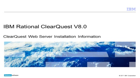 Thumbnail for entry ClearQuest Web Server installation information