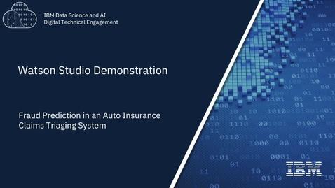 Thumbnail for entry Watson Studio Fraud Demo