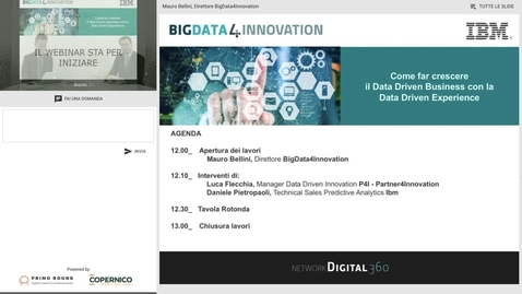 Thumbnail for entry Come far crescere il Data Driven Business con la Data Driven Experience webinar 27032018