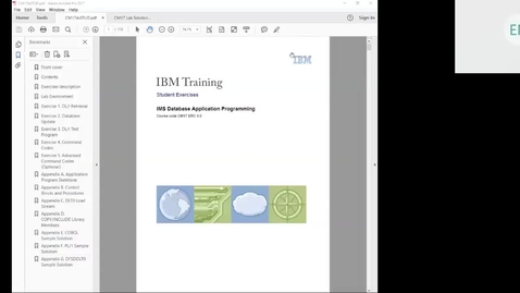 Thumbnail for entry Course CM17 IMS DB Application Programming Unit 7 Lab 3 (DL/I Test Program)