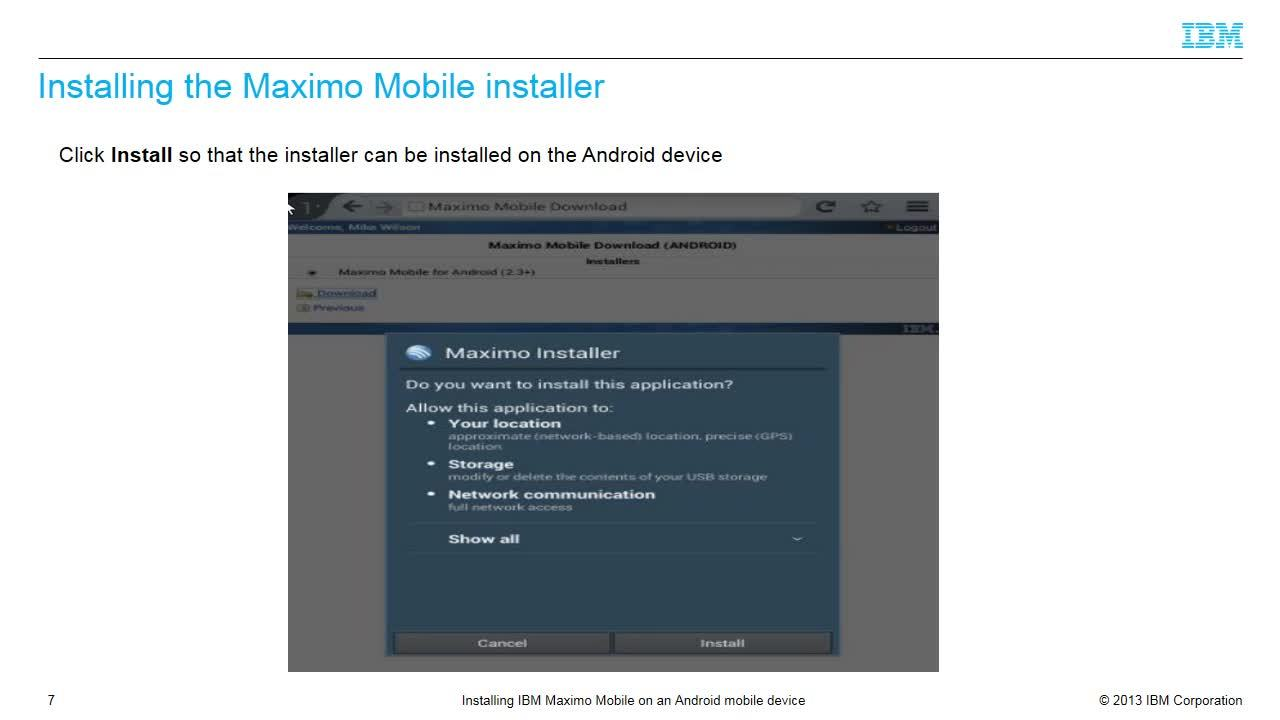 Installing ibm maximo mobile on a windows mobile device ibm.
