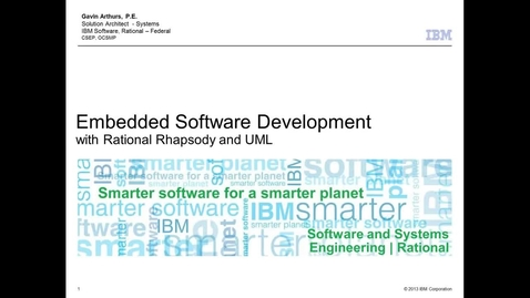 Thumbnail for entry UML and Rational Rhapsody Workflows for Embedded Code Development