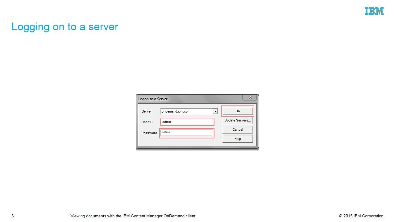Viewing Documents With The Ibm Content Manager Ondemand Client Ibm