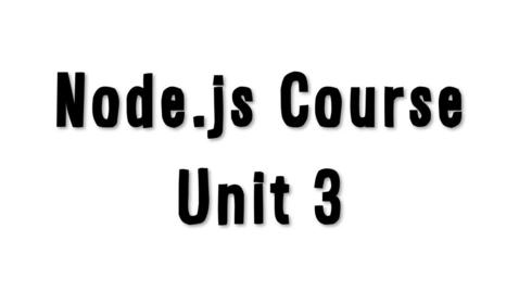 Thumbnail for entry 学习 Node.js,第 3 单元:Node.js 之旅