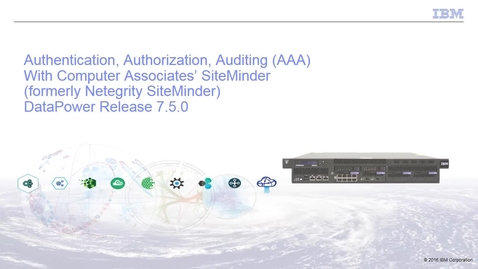Thumbnail for entry Authentication, authorization, and auditing with CA's SSO
