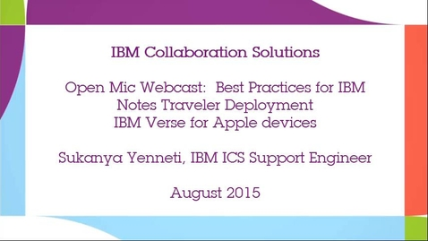Thumbnail for entry IBM Verse for Apple devices
