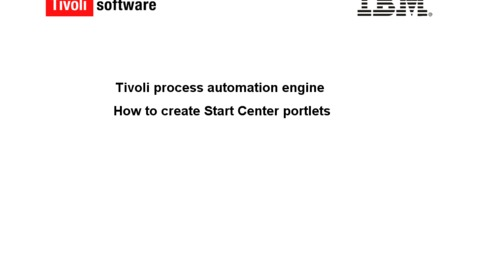 Thumbnail for entry How to create and configure Start Center Portlets