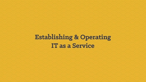 Thumbnail for entry Establishing & Operating IT as a Service with IBM Brokerage Solutions