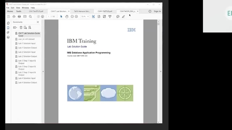 Thumbnail for entry Course CM17 IMS DB Application Programming Unit 9 Part 2 Lab 4 (Advanced SSAs Part 2)