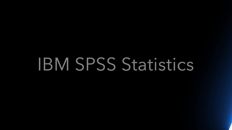 Thumbnail for entry Data Analysis with IBM SPSS Statistics and the New User Interface