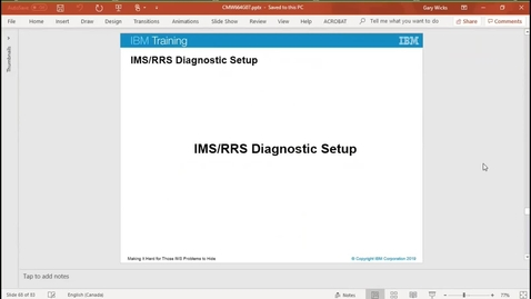 Thumbnail for entry Unit 7, video 6: IMS/RRS diagnostic setup