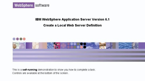 Thumbnail for entry Create a local Web server definition