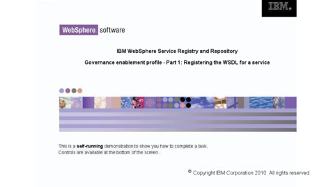 Thumbnail for entry Registering the WSDL for a service
