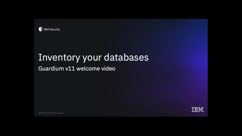 Thumbnail for entry Inventory Your Databases