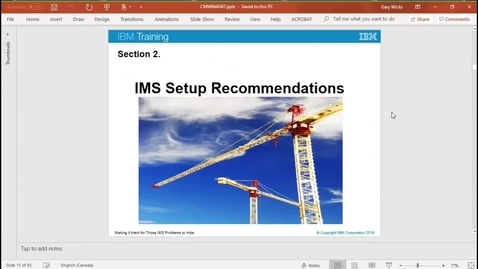 Thumbnail for entry Setting up an IMS environment to capture failure information