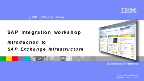 Thumbnail for entry SAP Exchange Infrastructure introduction
