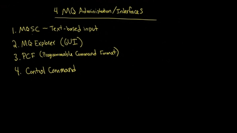 Thumbnail for entry MQ: Control Commands, Sticky Bit, and strmqm