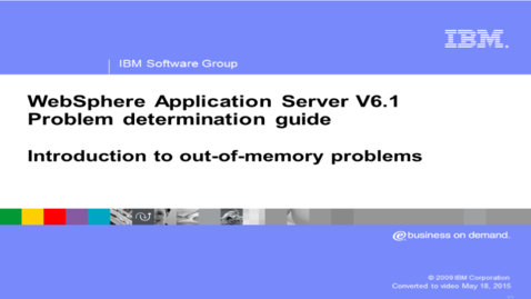 Thumbnail for entry Introduction to out-of-memory problems