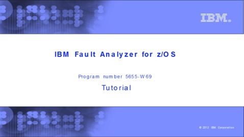 Chapter 13: Fault Analyzer tips - IBM MediaCenter