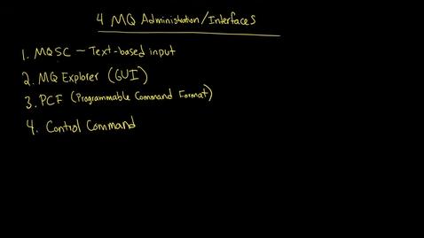 Thumbnail for entry MQ: MQ Explorer