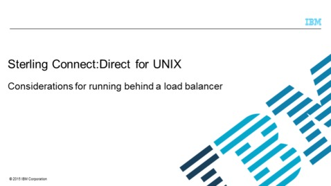 Thumbnail for entry Considerations for Running Behind a Load Balancer