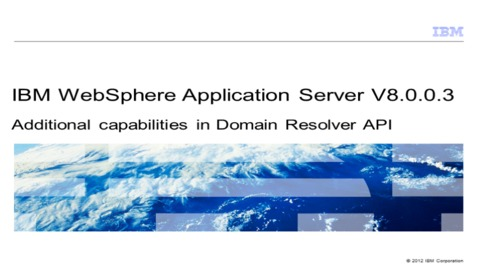 Thumbnail for entry Additional capabilities in Domain Resolver API