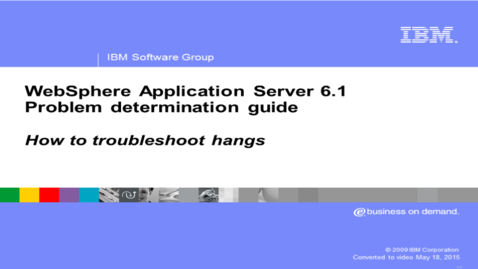 Thumbnail for entry How to troubleshoot hangs