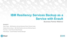 Thumbnail for entry IBM Backup as a Service