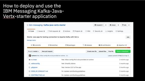Thumbnail for entry 将 Kafka 应用程序转换为反应式应用程序