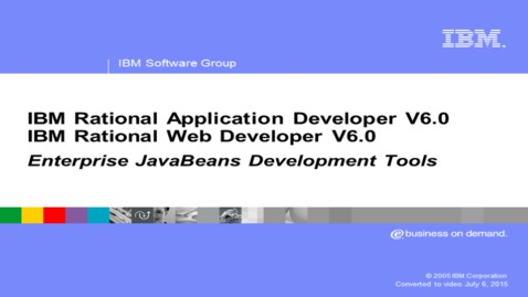 Thumbnail for entry EJB development tools