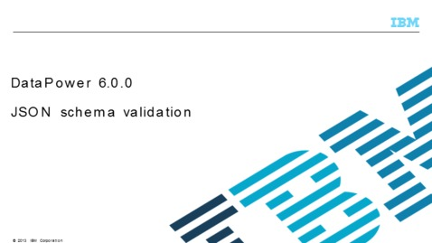 Thumbnail for entry JSON schema validation