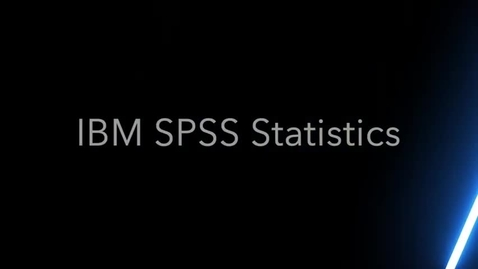 Thumbnail for entry Data Output in IBM SPSS Statistics