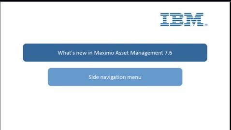 Thumbnail for entry Side navigation menu setup
