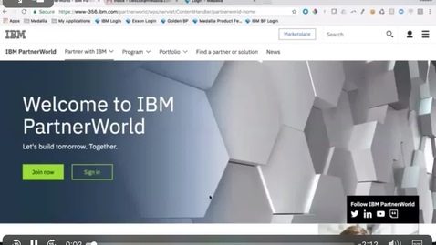 Thumbnail for entry IBM Business Partner access to Medallia