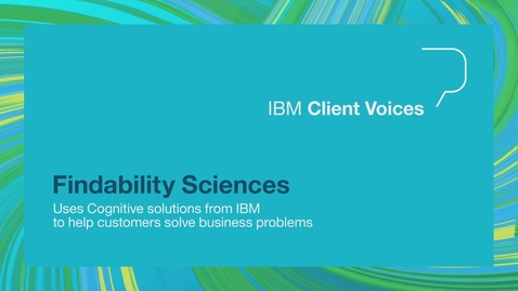 Thumbnail for entry Findability Sciences uses IBM cognitive solutions to help customers solve business problems